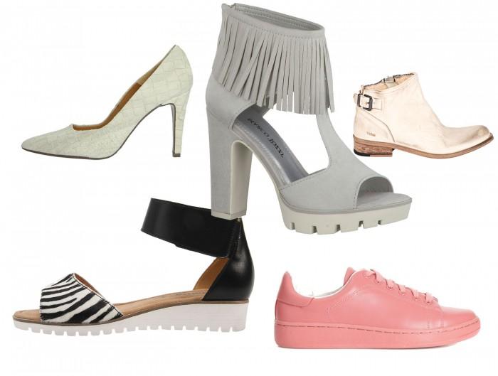 4 neutrala + 1 färgklick – skor som bär upp din vita outfit.